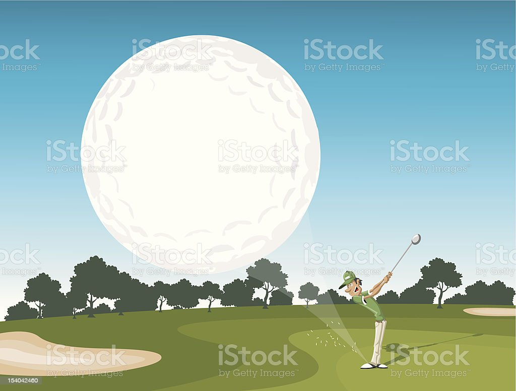 Golf ball coming royalty-free stock vector art