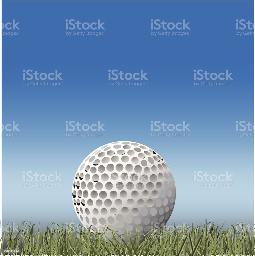 Golf ball on grass royalty-free golf ball on grass stock vector art & more images of ball