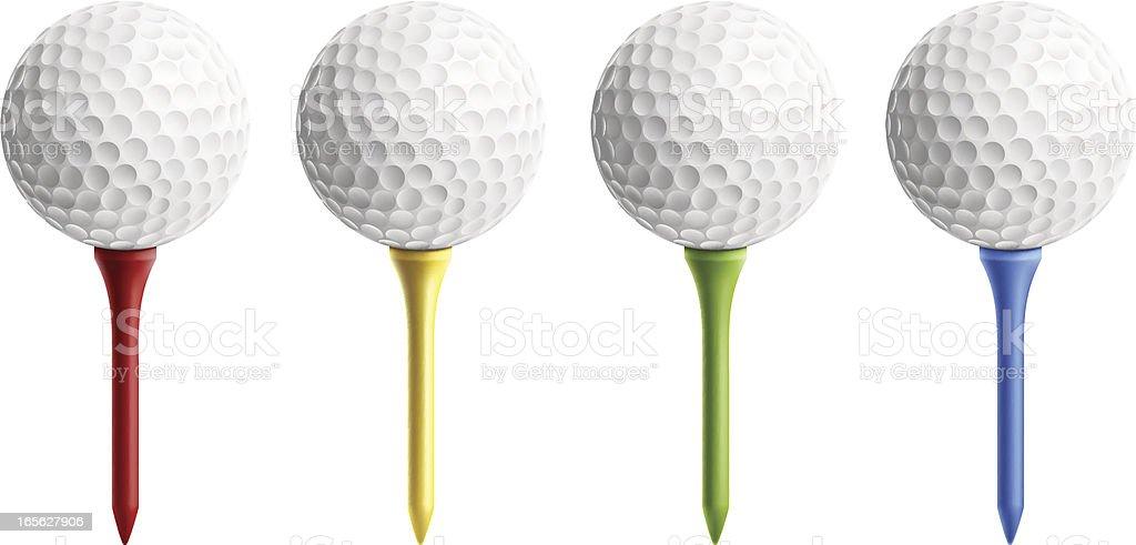 Bola de golfe no campo - ilustração de arte em vetor