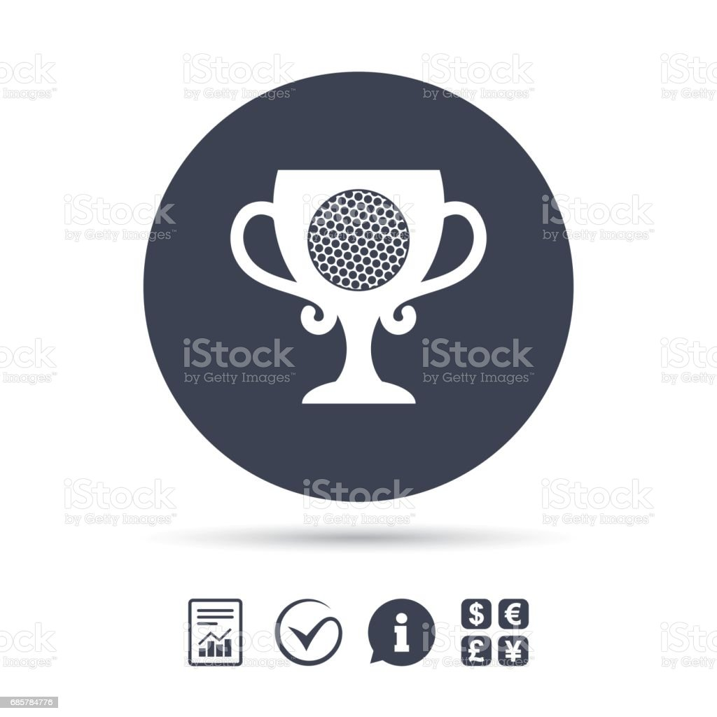 Golf ball sign icon. Sport symbol. royalty-free golf ball sign icon sport symbol stock vector art & more images of art