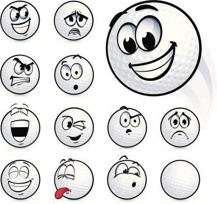 Golf Ball Smileys