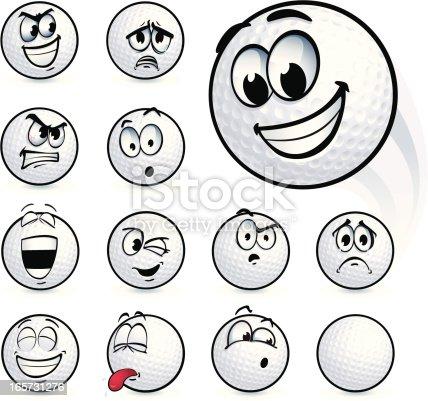 istock Golf Ball Smileys 165731276