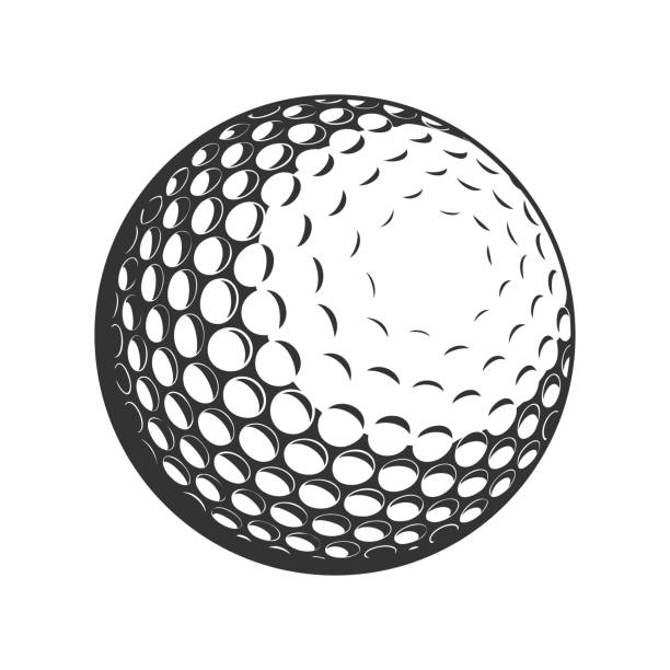 Golf Ball vector flat icon Golf Ball vector flat icon golf ball stock illustrations