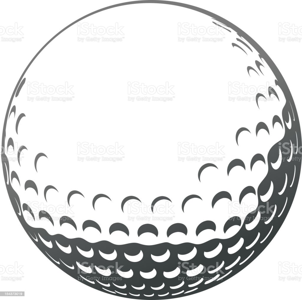 golf ball stock vector art more images of activity 154373019 istock rh istockphoto com Golf Outing Clip Art Golf Outing Clip Art