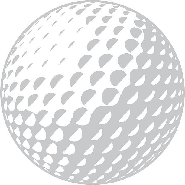 Golfball Two-color golfball, no gradients golf ball stock illustrations