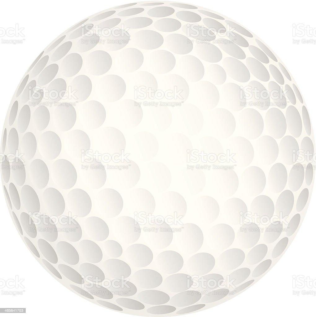 Golf ball vector art illustration
