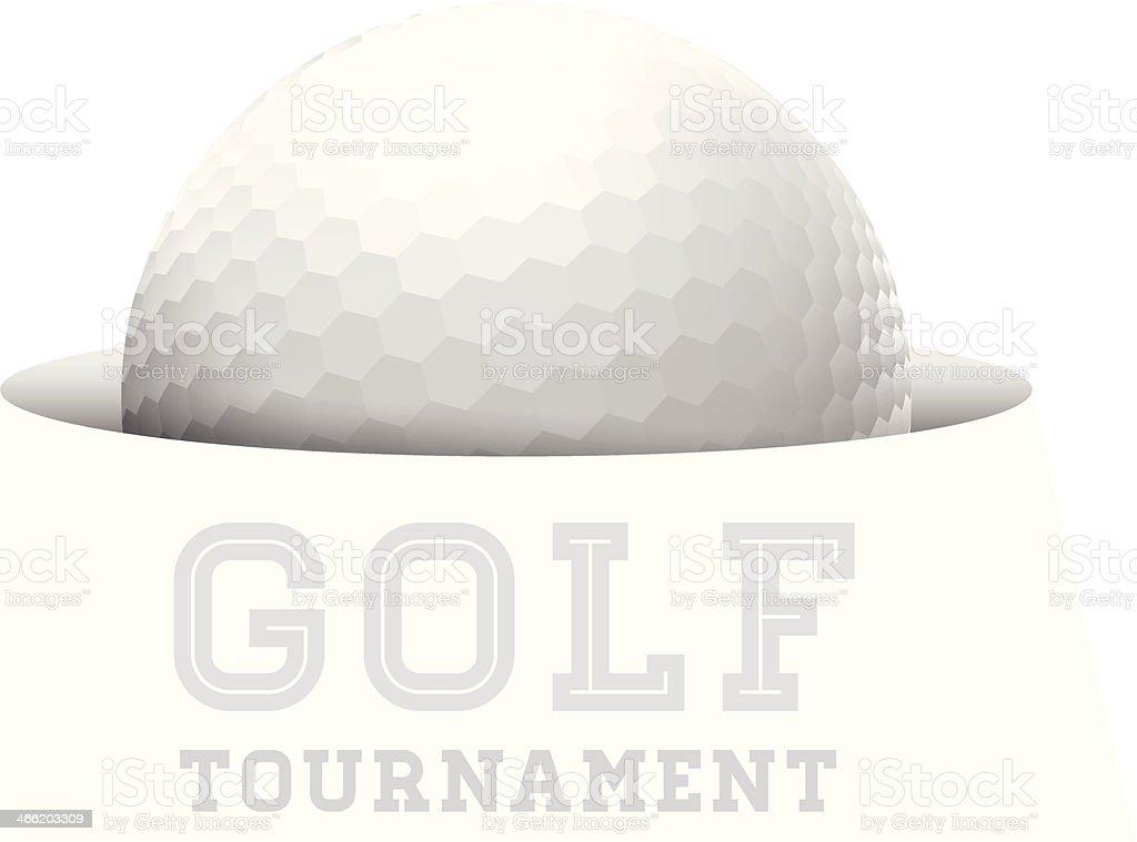 Golf ball. vector art illustration
