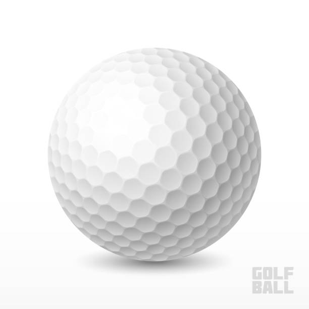 Golf ball Vector illustration with transparent effect. Eps10. golf ball stock illustrations