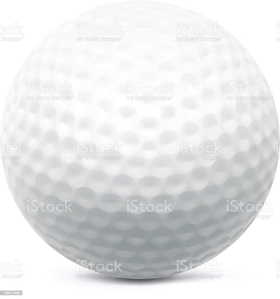 Мяч для гольфа - Векторная графика Без людей роялти-фри