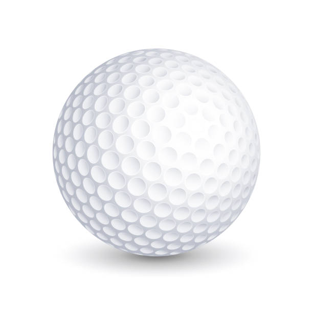 Golf ball vector illustration Golf ball vector illustration golf ball stock illustrations