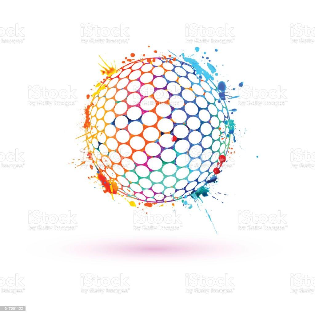 Golf ball. Vector sign vector art illustration