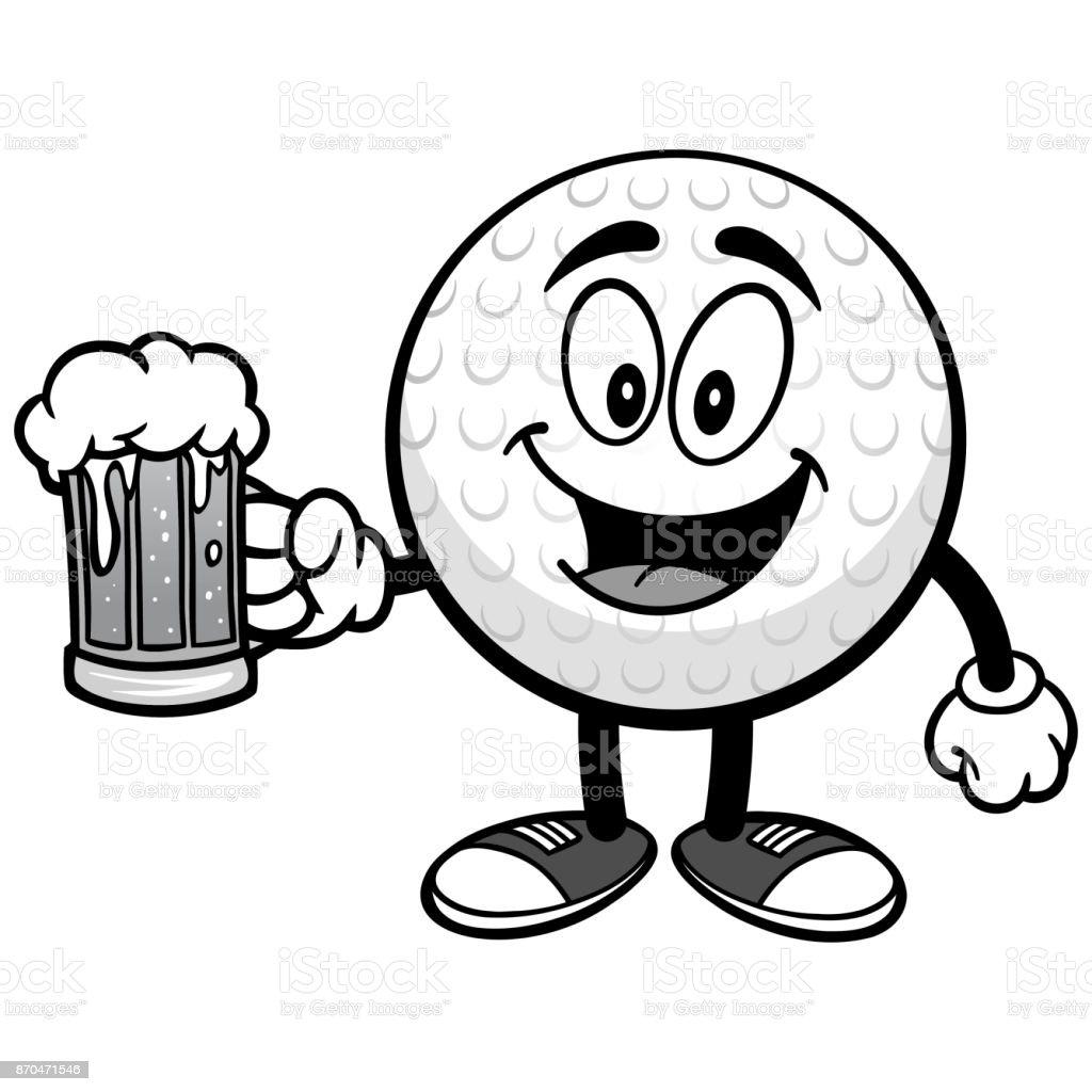 royalty free cartoon of a golf balls clip art vector images rh istockphoto com golf ball clip art free vector golf ball clip art images