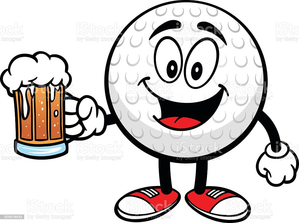 Golf Ball With Beer Royalty Free Golf Ball With Beer Stock Vector Art U0026amp;