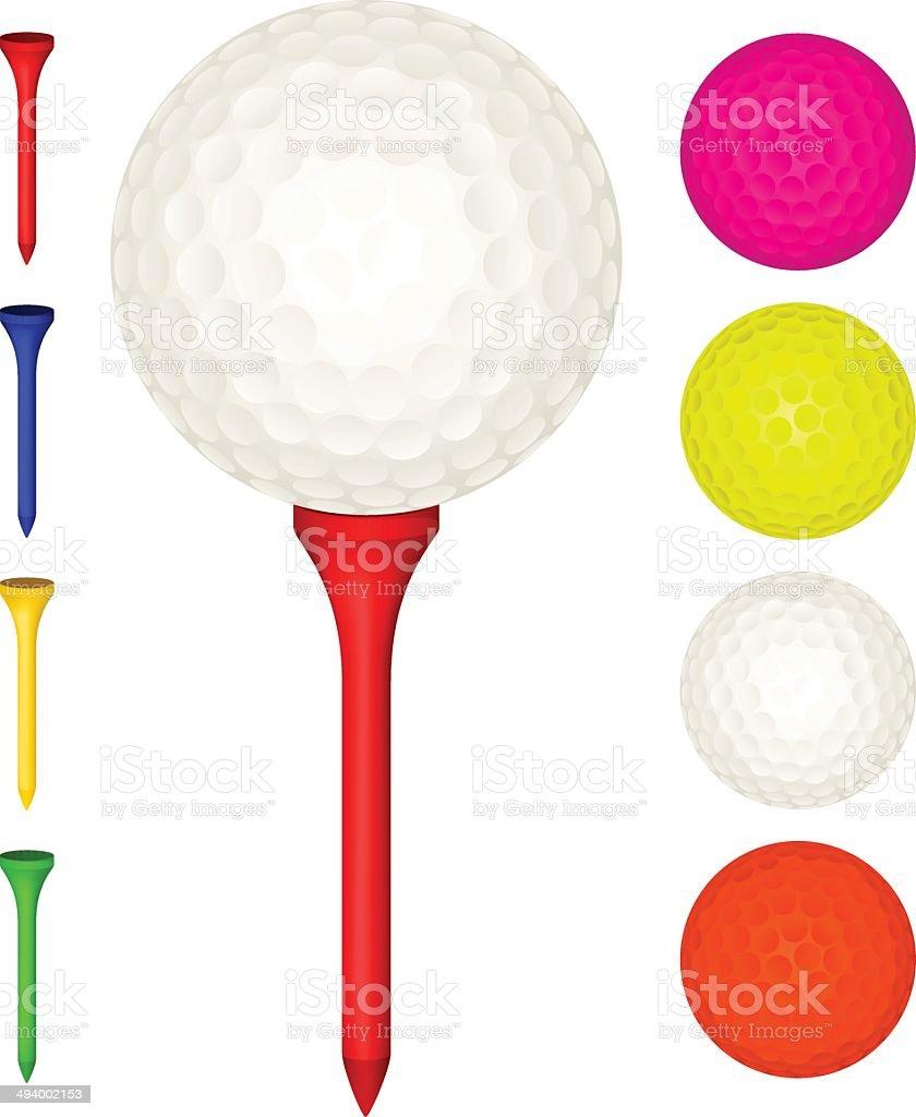 ゴルフボールと t シャツ のイラスト素材 494002153 | istock