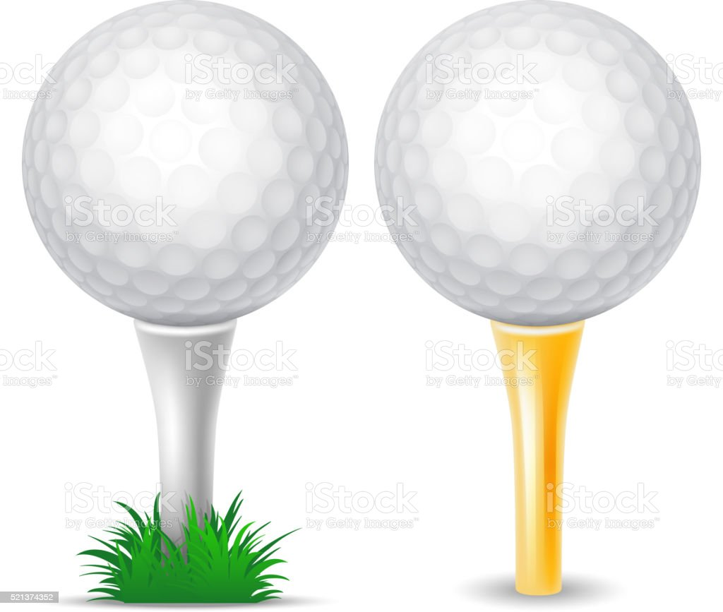 Royalty Free Golf Tee Clip Art, Vector Images ... Golf Ball On Tee Clipart