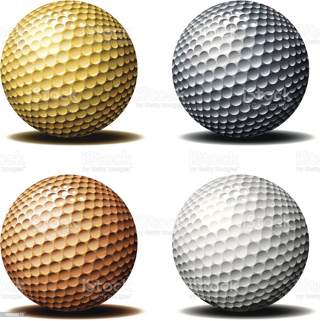 Golf ball-Trophy royalty-free golf balltrophy stock vector art & more images of bronze - alloy