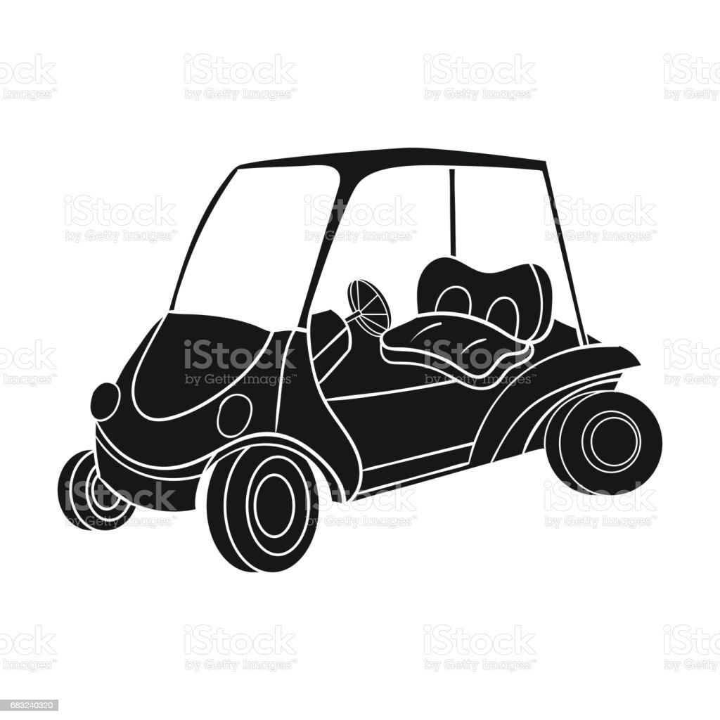 Golf cart icon in black style isolated on white background. Golf club symbol stock vector illustration. royalty-free golf cart icon in black style isolated on white background golf club symbol stock vector illustration 곤봉에 대한 스톡 벡터 아트 및 기타 이미지