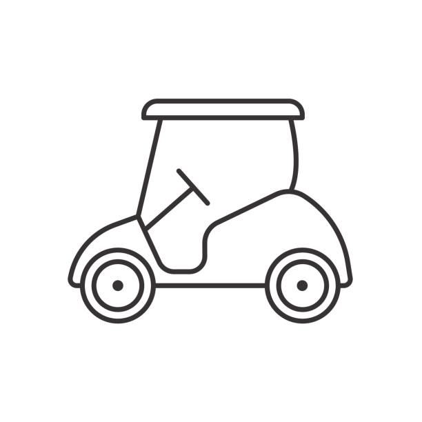 Royalty Free Golf Cart Silhouette Clip Art, Vector Images