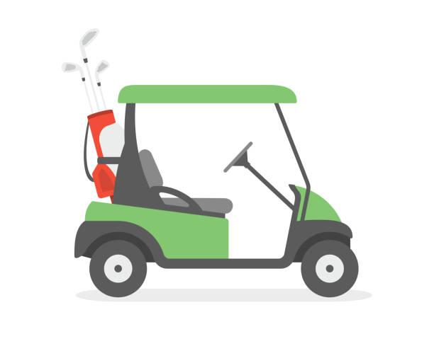 ilustrações de stock, clip art, desenhos animados e ícones de golf cart - golf