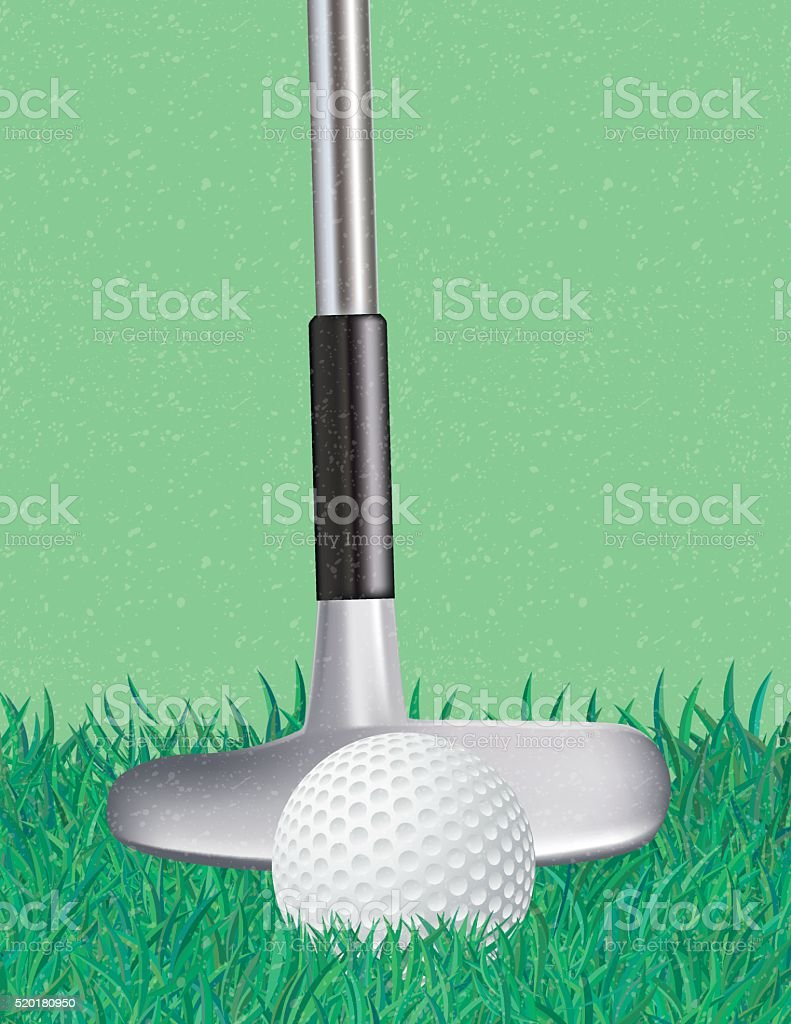 Golf Club and Ball Sports Background vector art illustration