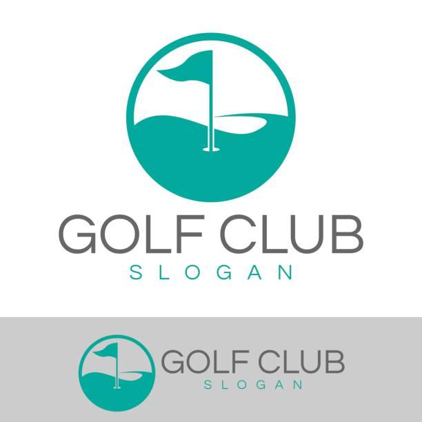 ilustrações, clipart, desenhos animados e ícones de ícone do clube de golfe - golfe