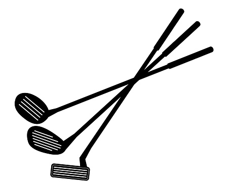 Golf club icon.  Vector illustration about golf .