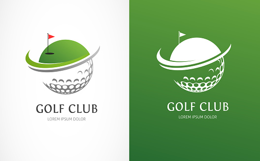 Golf club icons, symbols, elements and logo vector collection
