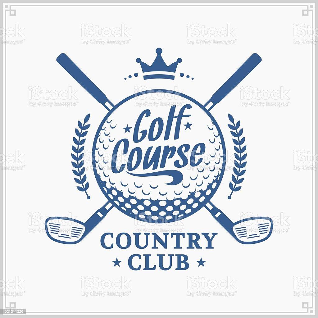 Clube de golfe Rótulo - ilustração de arte em vetor