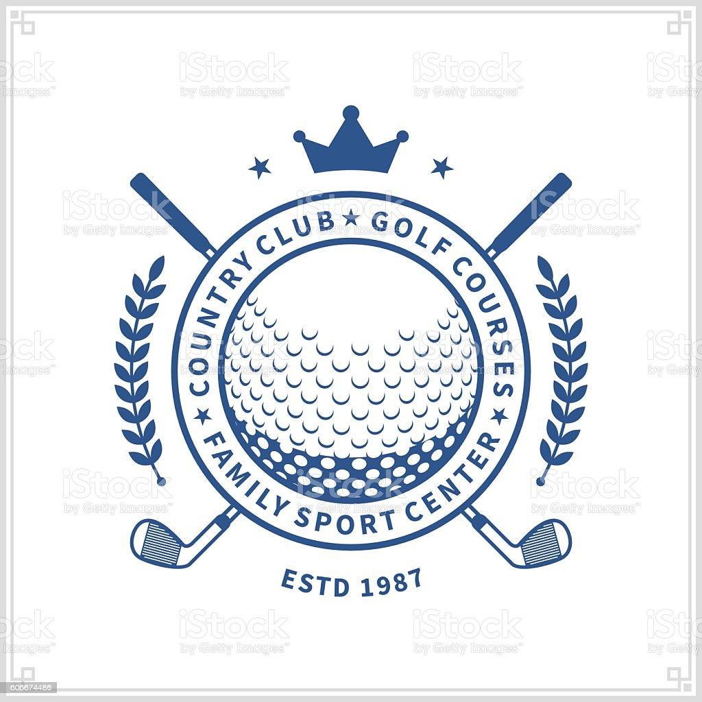Clube de golfe label - ilustração de arte em vetor