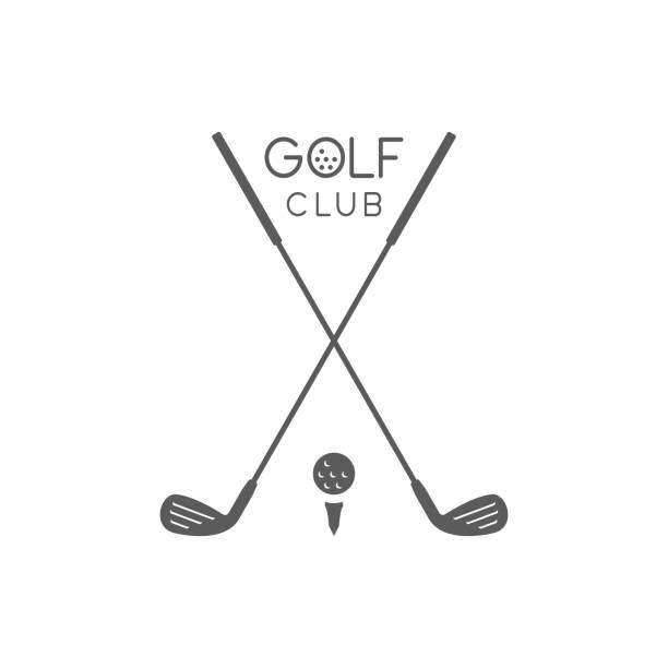 ilustrações de stock, clip art, desenhos animados e ícones de golf club logo - golf