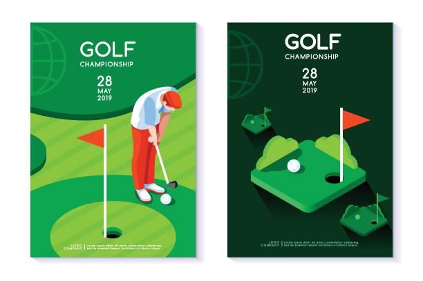 ゴルフ クラブ ポスター テンプレート - ゴルフ点のイラスト素材/クリップアート素材/マンガ素材/アイコン素材