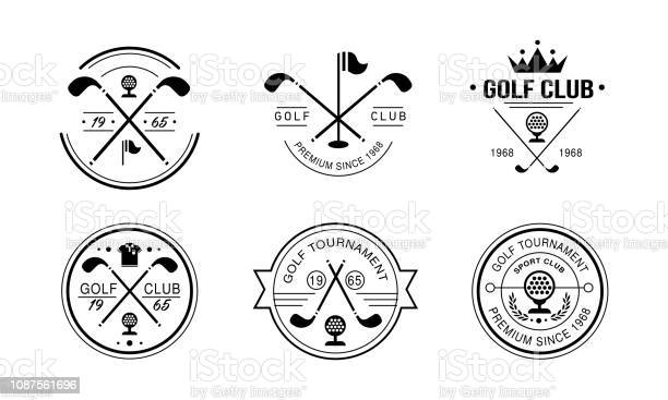 Golf Club Premium Since 1968 Logo Golfing Club Retro Badges Sport Tournament Or Competition Vintage Labels Vector Illustration On A White Background Stock Illustration - Download Image Now