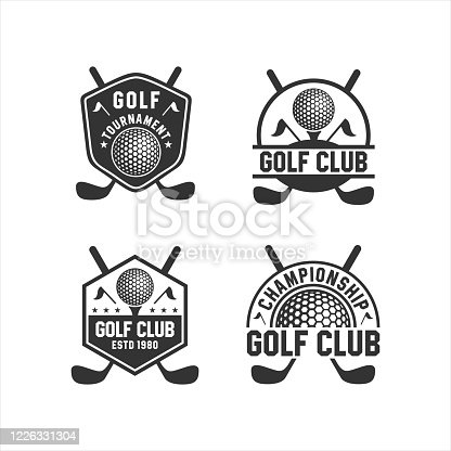 istock Golf Club Tournament Logos Collections 1226331304