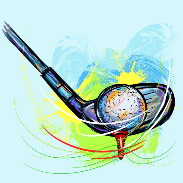 ilustrações de stock, clip art, desenhos animados e ícones de taco de golfe - driveway, no people