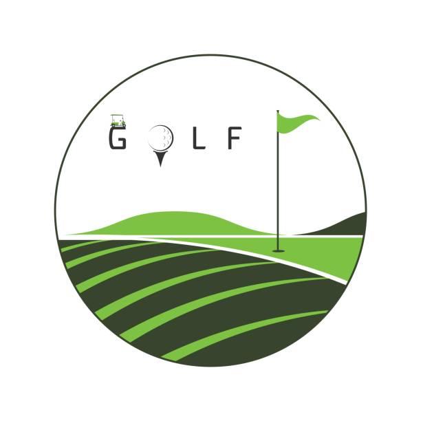 golf club golf club, golf championship, golf tournament on white background illustration golf logo stock illustrations