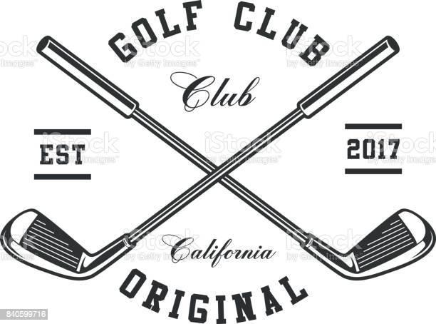 Golf Clubs Emblem Stock Illustration - Download Image Now