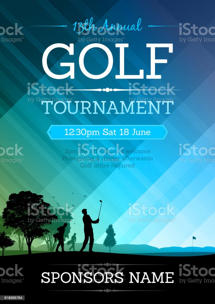 Golf competition poster vector art illustration