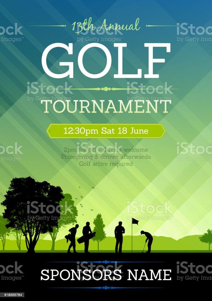 Avis de concours de golf - Illustration vectorielle