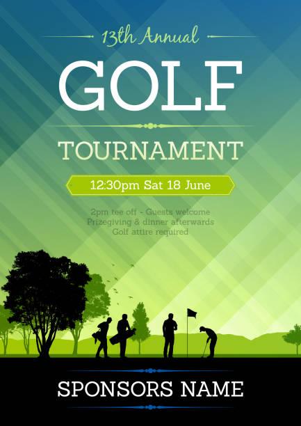 ゴルフ大会ポスター - ゴルフ点のイラスト素材/クリップアート素材/マンガ素材/アイコン素材