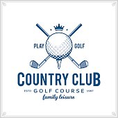 Golf country club icon