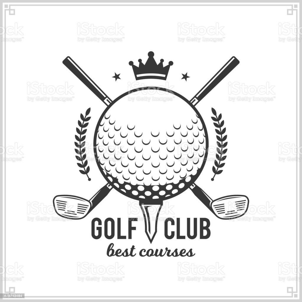 Golf Kulübü simgesi royalty-free golf kulübü simgesi stok vektör sanatı & amblem'nin daha fazla görseli