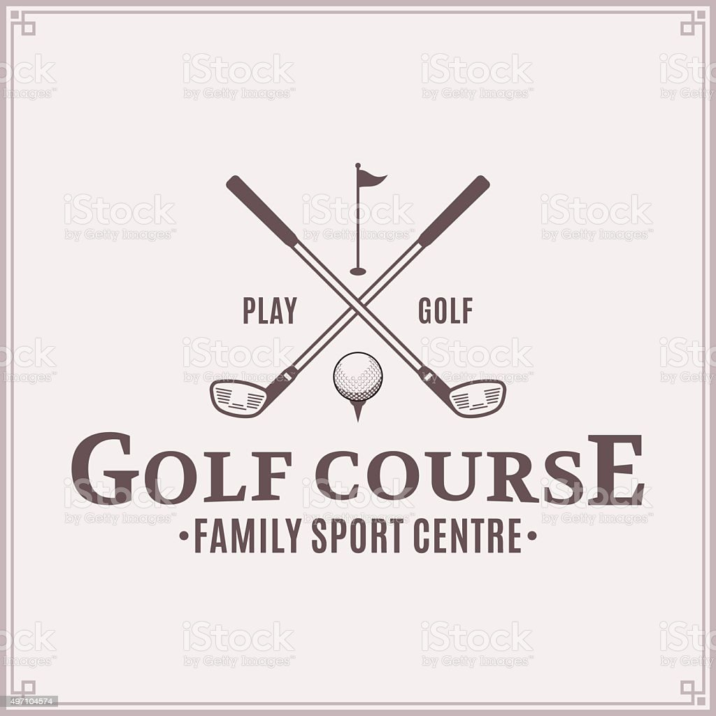 Golf country club label template vector art illustration