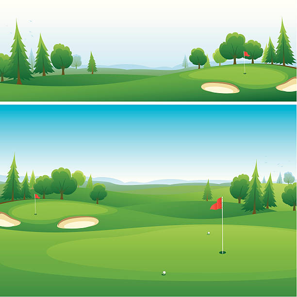 Royalty Free Golf Course Clip Art, Vector Images ...