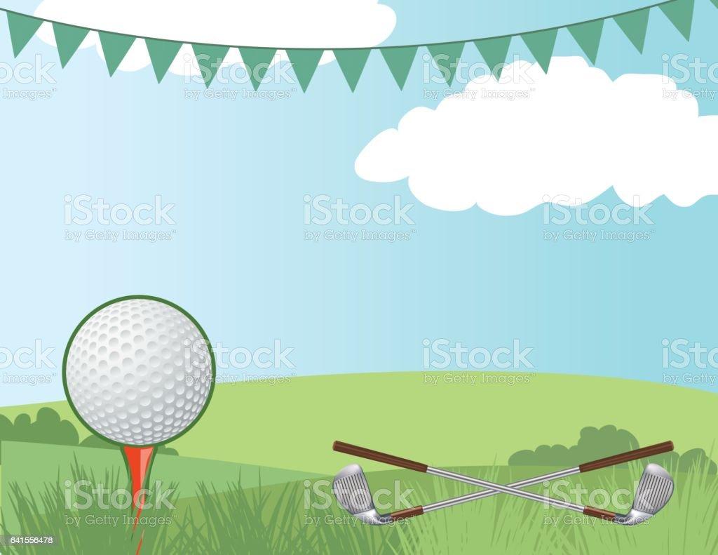 Golf Course Background vector art illustration