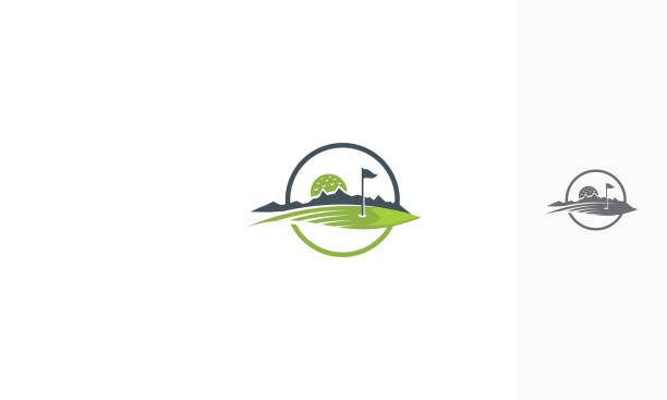 golf course icon vector For your stock vector needs. My vector is very neat and easy to edit. to edit you can download .eps. green golf course stock illustrations