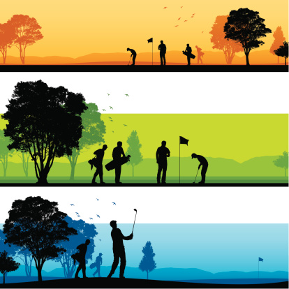 Golf course silhouettes