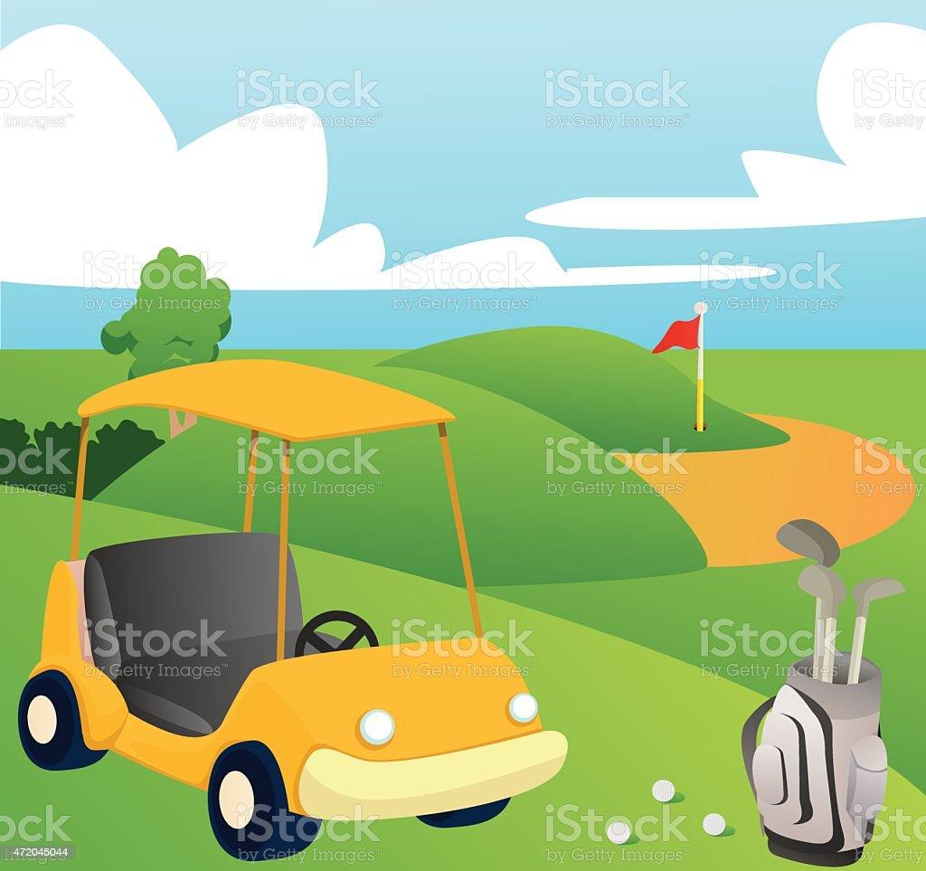 nude bogy art golf landscape had