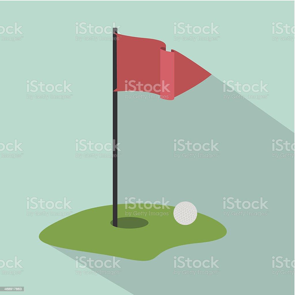 Golf hole flag clip art
