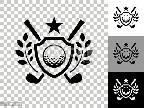 istock Golf Emblem Icon on Checkerboard Transparent Background 1247541494