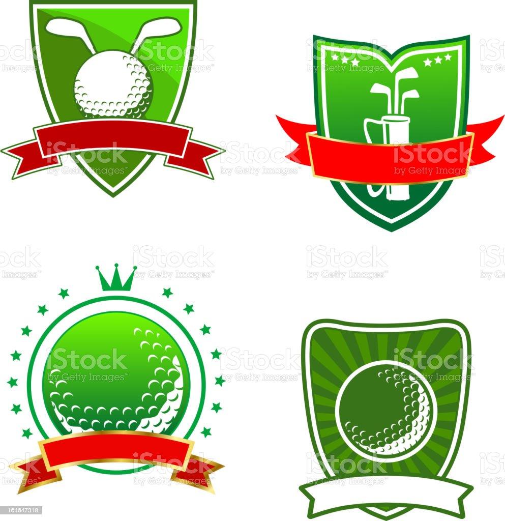 Golf emblems and symbols royalty-free stock vector art
